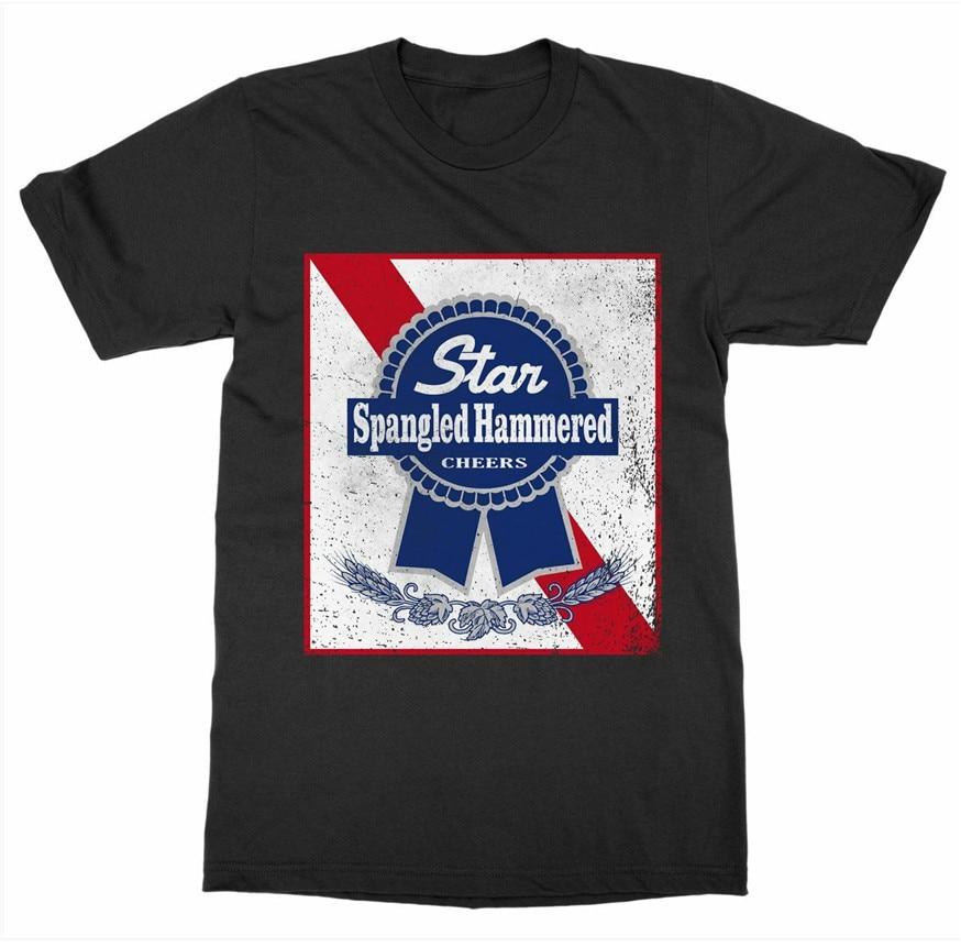 Camiseta martillada de estrella con lentejuelas del 4 de julio de la independencia Patriot América Usa pabellón 2Xl 3Xl 4Xl 5Xl camiseta
