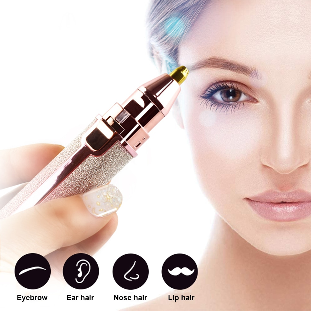 Electric Eyebrow Trimmer Makeup Painless Eye Brow Epilator Mini Electric Shaver Razor Woman USB Portable Hair Remover Machine enlarge