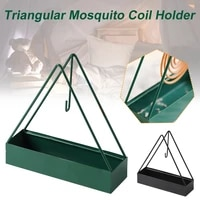 new arrival iron triangle shaped durable metal mosquito repellent anti mosquitos tray mosquito coil holder for home wholesale
