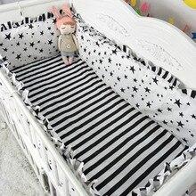5PCS Cartoon Baby Girl Crib Bedding Sets juego de cama Baby Bed Accessories for Crib Bed Bumper Room Decor (4bumper+sheet)