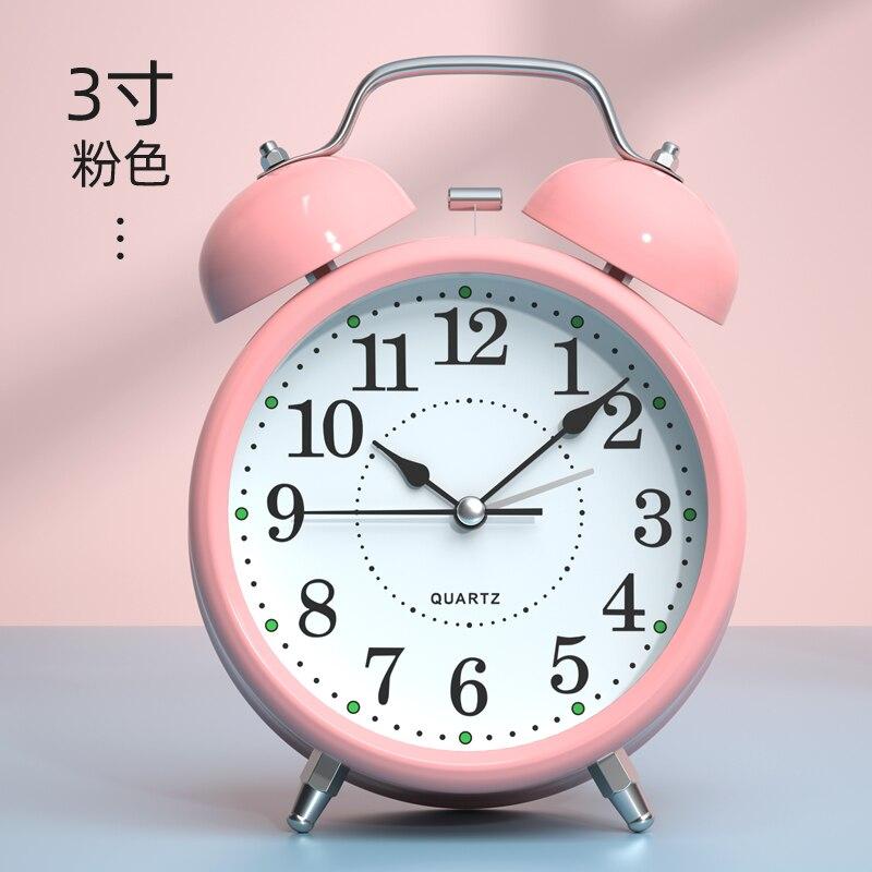 Reloj despertador pequeño de Metal, campana luminosa novedosa, reloj despertador redondo, altavoz parlante, Mini dispositivo para el hogar Wekker de viaje, Cool XX60AC