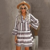 women sexy v neck dress 2021 summer bohemian beach holiday dress casual sexy party woman dresses