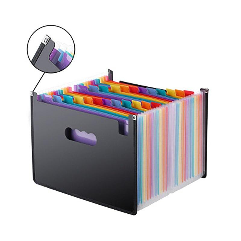 Многофункциональная 12 карманов расширяющаяся папка для файлов A4 расширяемая Портативная подставка пластиковая бизнес файл офисная бизнес...