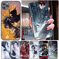 demon slayer kamado tanjirou kimetsu no yaiba agatsuma zenitsu kamado nezuko phone case for iphone 11 pro max cases soft tpu