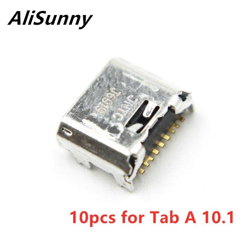 AliSunny 10 Uds Puerto USB conector para SamSung Tab A 10,1 SM T580 T585 T587 cargador de carga piezas de enchufe