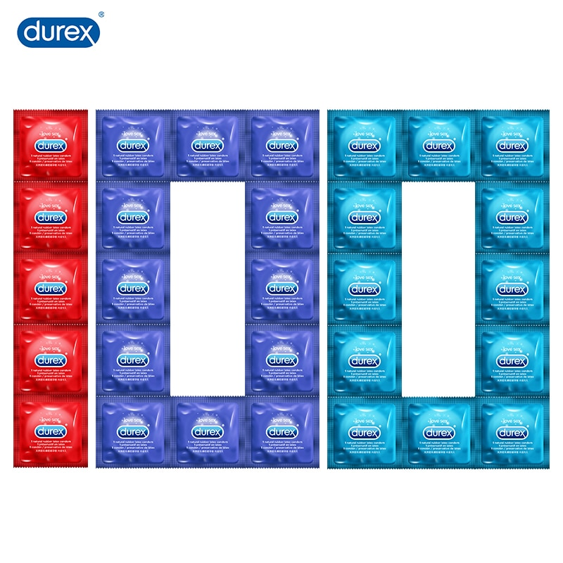 Durex Condoms for Men 100Pcs 4 Types Natural Latex Ultra Thin Lubricated Penis Sleeve Intimate Products Sex Toys For Couples