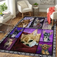 chihuahua 3d printed rugs mat rugs anti slip large rug carpet home decoration living flannel print bedroom non slip floor rug