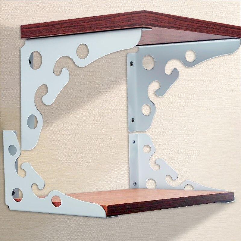 2 soportes de pared de Metal para estantes de cocina estantes decoración estante triángulo baño cocina grueso acero inoxidable