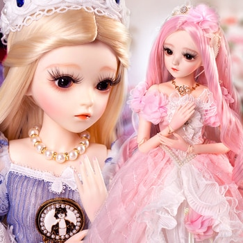 UCanaan 1/3 BJD Doll 60CM Ball Jointed SD Dolls With Full Outfits Dress Shoes Wig Makeup Collection Toys For Girls Birthday Gift