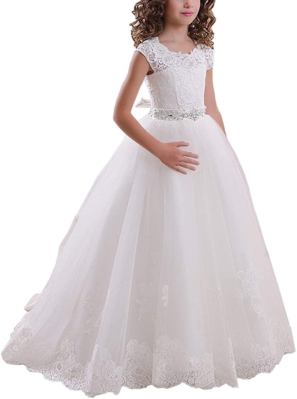 Бальное платье на шнуровке, платья для первого причастия с цветами, платья для девочек с цветами, платья для девочек с цветами для свадеб, пл...