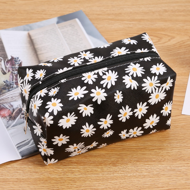 2020 New Fashion Small Makeup Bags Waterproof Floral Print Cosmetic Organizer Zipper Handbag Carry C
