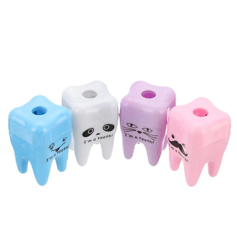 20 unids/lote Sacapuntas con forma de diente bonito para niño de la escuela favorito de niños para Clínica Dental Cuidado de regalo Oral