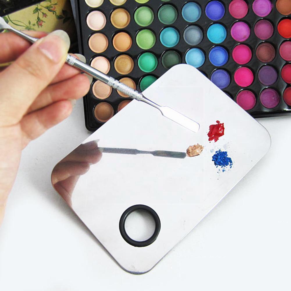 Фото - Косметическая стальная палитра для макияжа, шпатель, косметический инструмент для макияжа в палитре, инструмент для смешивания искусствен... косметический инструмент для макияжа