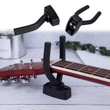1 Pcs Instrument Zubehör Langlebig Gitarre Haken Unterstützung Stehen Wand Montieren Gitarre Aufhänger Haken für Gitarren Bass Ukulele String
