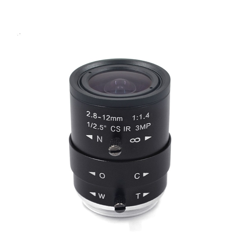 Manual Zoom Lens 2.8-12mm HD 3 Million CS Interface, Accessories Can Be Equipped with Live Camera
