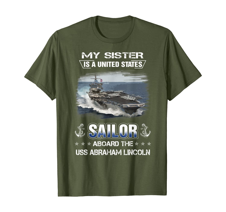 Mi hermana es un marinero a bordo de la USS Abraham Lincoln...