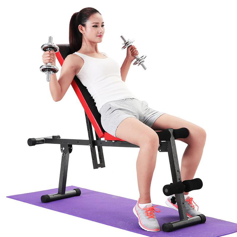 Bench Bed Sit-ups Chair Multi-functional Fitness Chair Fitness Gym Equipment Dumbbell Bench Household Foldable Fitness Chair