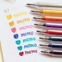 8 marcador de colores juego de bolígrafos Bling brillo ostentoso color marcador plumas de dibujo álbum de recortes álbum herramientas DIY papelería escuela arte F596