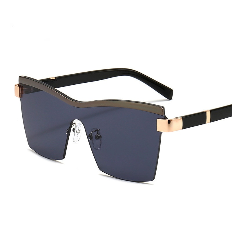 Women Rimless Square Retro Sunglasses Luxury Brand Glasses Women/Men Oversized Sunglasses  Oculos De