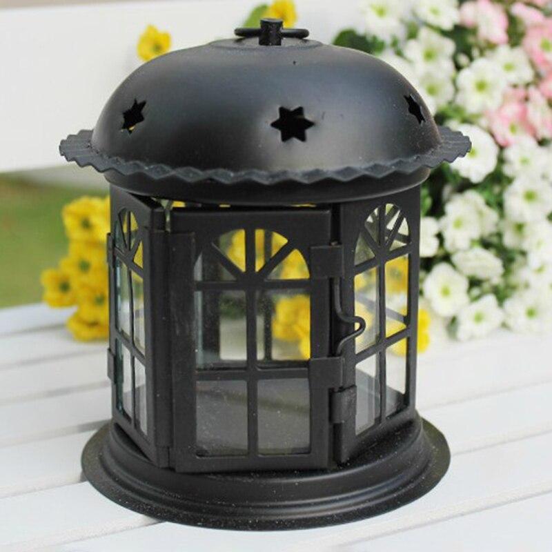 Candelabro de hierro antiguo candelabro de hierro con estrellas para el hogar candelabro de boda romántico europeo Retro Sc
