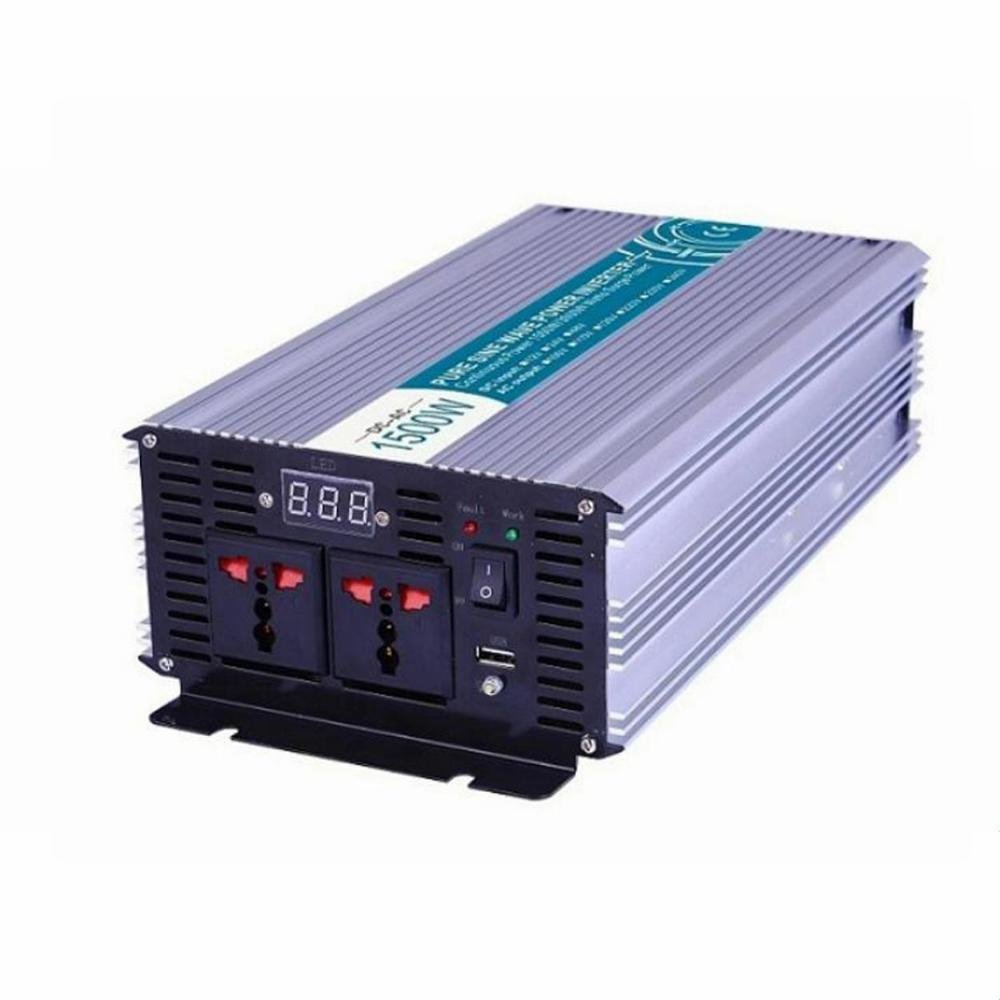 1500 واط 12/24 فولت إلى 100/110/120/220/230/240VAC 50/60 هرتز السكنية المنزلية عالية التردد استخدام موجة جيبية نقية خارج الشبكة العاكس