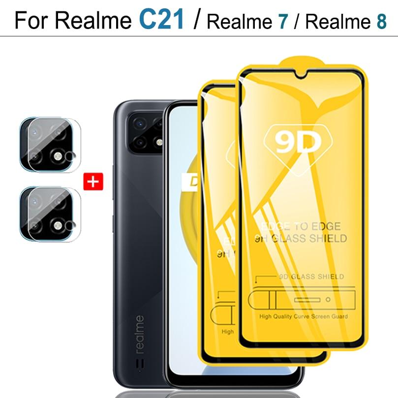 Cristal Templado Realme C21, 9D Vidrio Protector para OPPO Realme C 21...