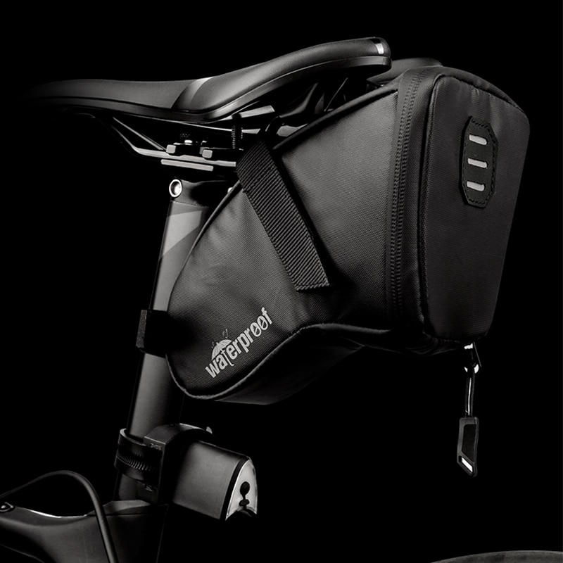 Alforjas portátiles Para Bicicleta, a prueba de lluvia, cojín reflectante, trasero, tija...