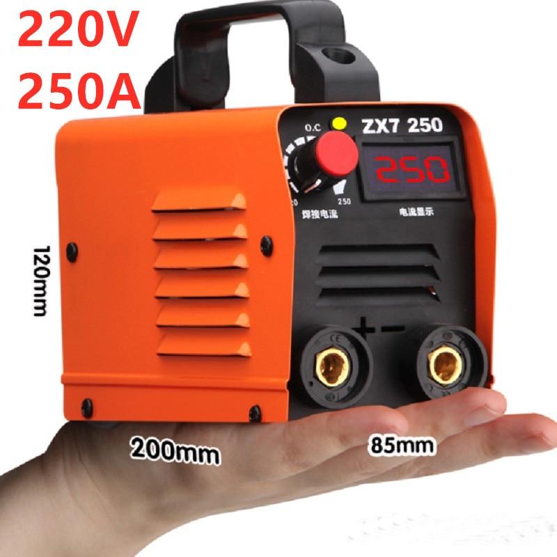 Бесплатная доставка 220В 250А высококачественный дешевый и портативный сварочный инвертор сварочные машины ZX7-250