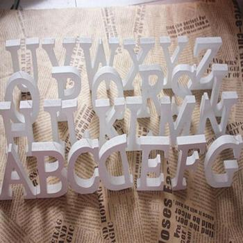 Lettres de l'alphabet blanc en bois autoportants, 1 pièce, décorations pour la maison, fête d'anniversaire, mariage, Design de nom personnalisé QQLIFE