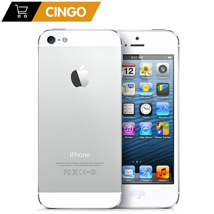 Unlocked Original iPhone 5 16GB/32GB/64GB ROM Dual-core 3G 4.0 inches Screen 8MP Camera iCloud WIFI GPS IOS OS Cell Phones