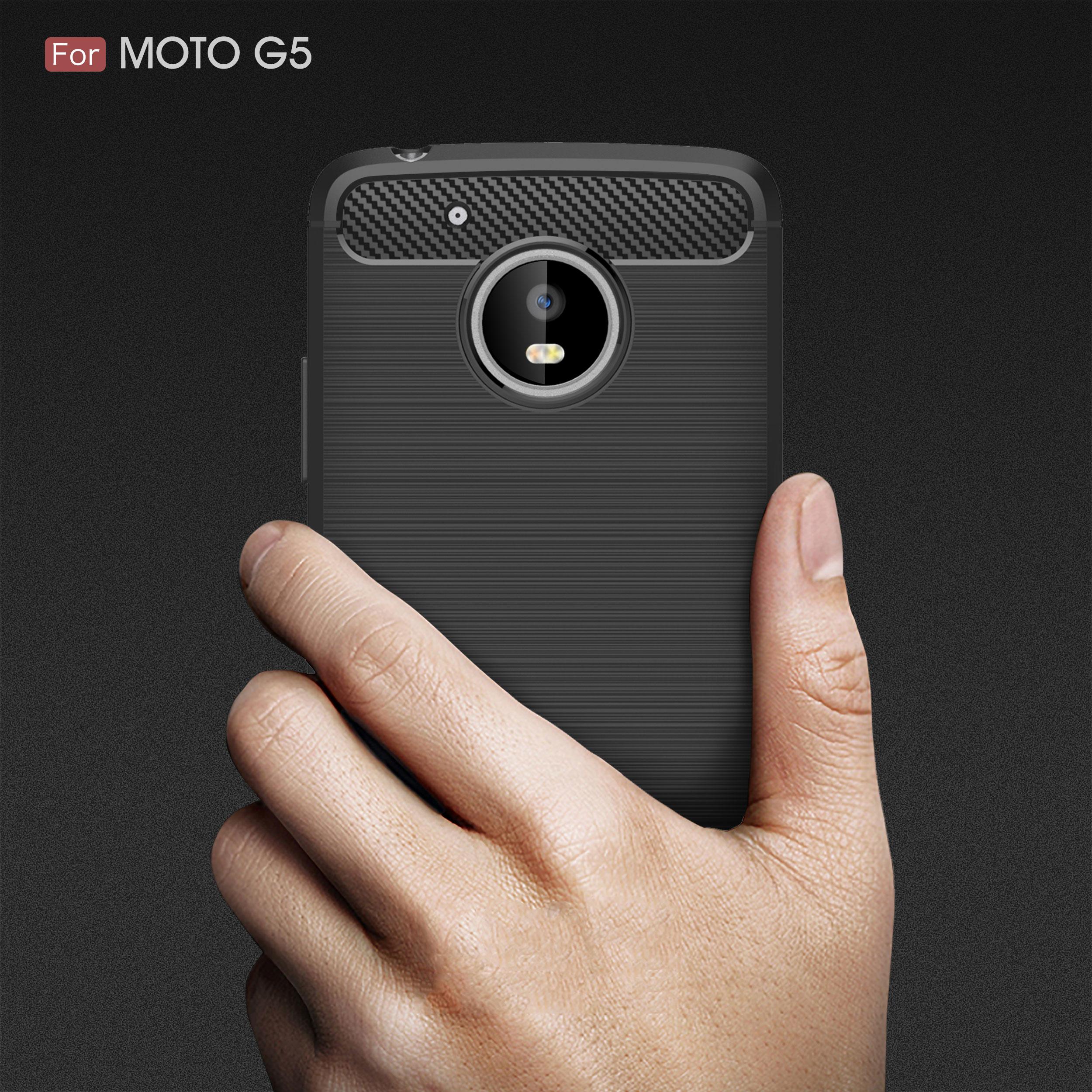 Carbon Fiber Cover Phone Case For Motorola Moto C E4 E5 Z2 G5S Z2 X4 G6 P30 One Note Power Play GO Plus Back Cover Case Coque