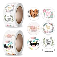 500pcs 2 5cm flower thank you sticker envelope sealing decoration greeting card label stationery stickers
