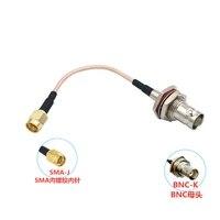 cable rg316 de puente coaxial por radiofrecuencia conector hembra bnc adaptador de enchufe sma macho
