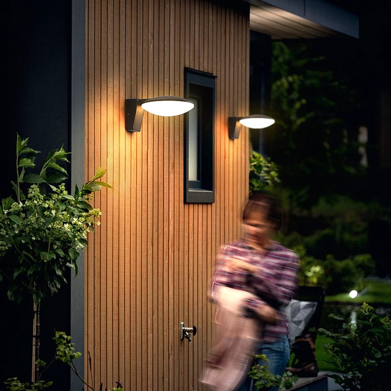 Modern outdoor solar collector lamps, garden wall lamps, waterproof wall lamps with sensors, courtyard, street and porch, 2 enlarge