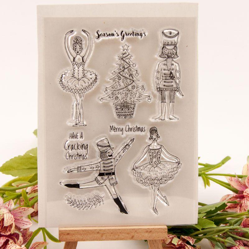 Envío Directo y venta al por mayor, sello de silicona transparente para baile de árbol de Navidad, sello para álbum de recortes DIY, foto en relieve Nov.25