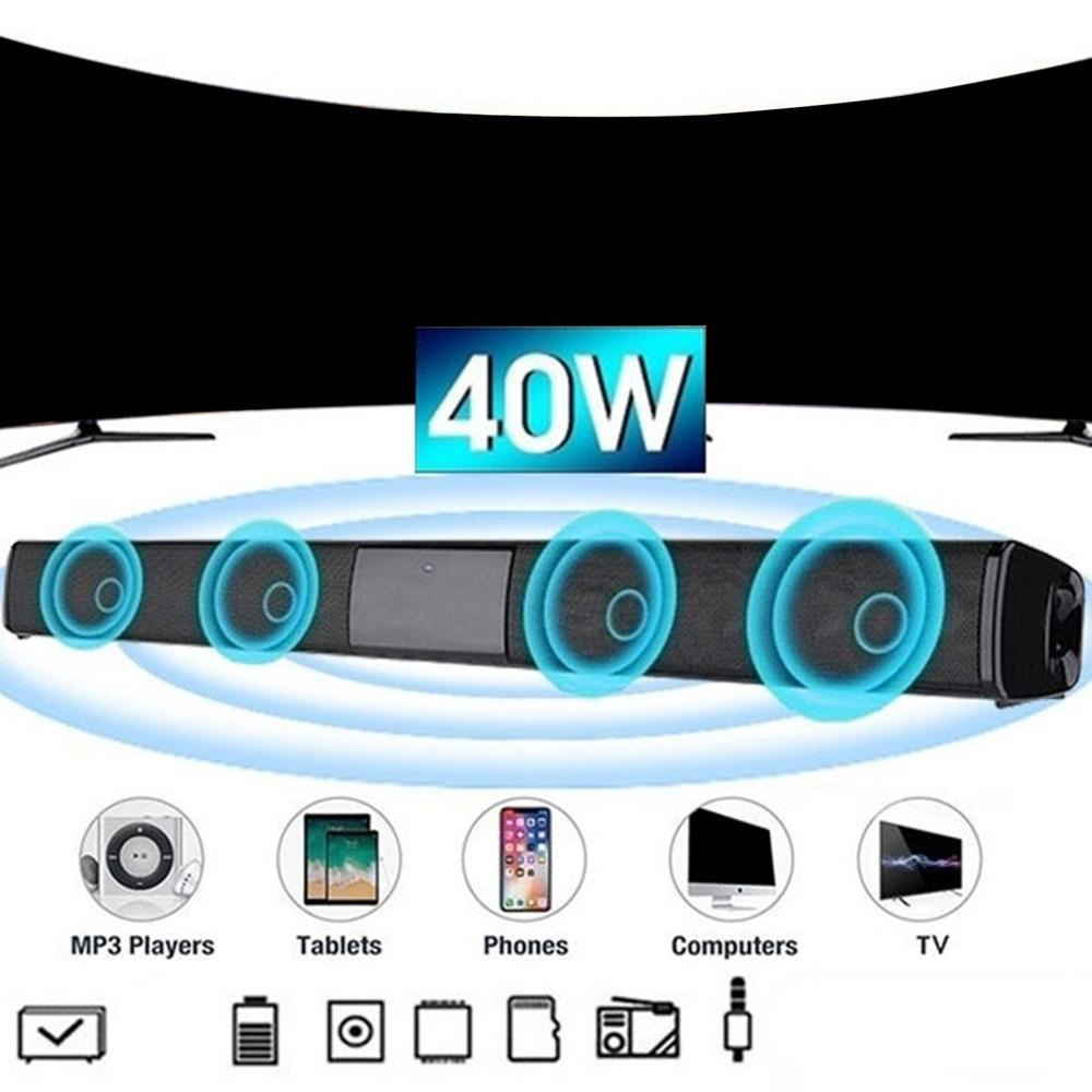 Sound Bar Speaker Wireless Music Speaker Home Theater Audio With Aux TF Card Microphone Stereo Speak
