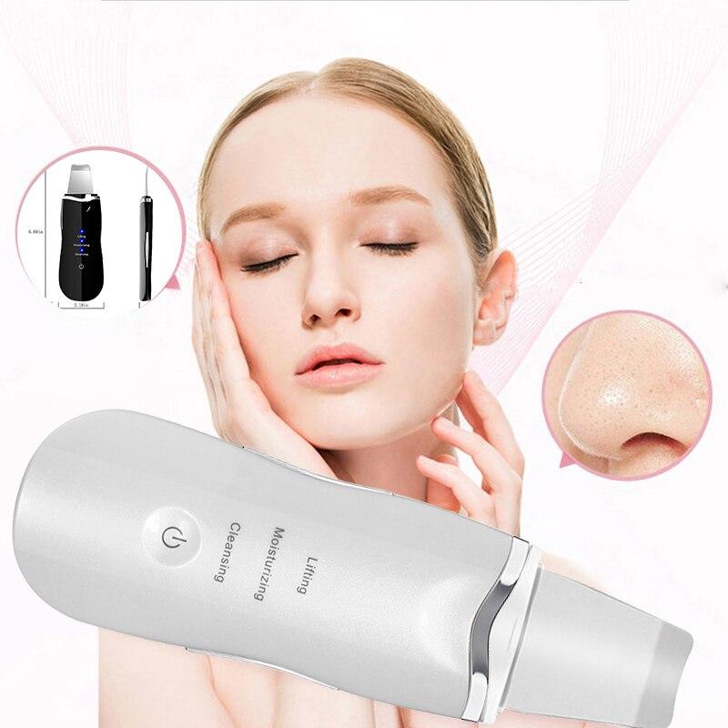 Ultrasonic Vibration Skin Scrubber Facial Cleaner Deep Cleaning Blackhead Peeling Exfoliating Shovel Skin Firming Beauty Device