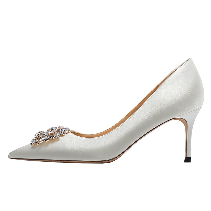 Pointed Rhinestone  women shoes wedding shoes  silk sexy High heel shoes banquet party shoes 5CM-9CM