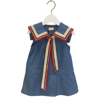 Summer Dress For Girls Short sleeve Denim Dress Girl Big Girls Party Dress Kids Summer Clothes For Kids Girl 3 6 8 9 10 Year