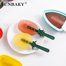 FUNBAKY 1 cavités Mini fruits crème glacée moule Popsicle fabricants Dessert forme avec PP bâtons cuisine bricolage moules plateau