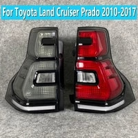 1 pair for toyota land cruiser prado 2010 2017 taillight assembly modified steering brake flowing rear taillight