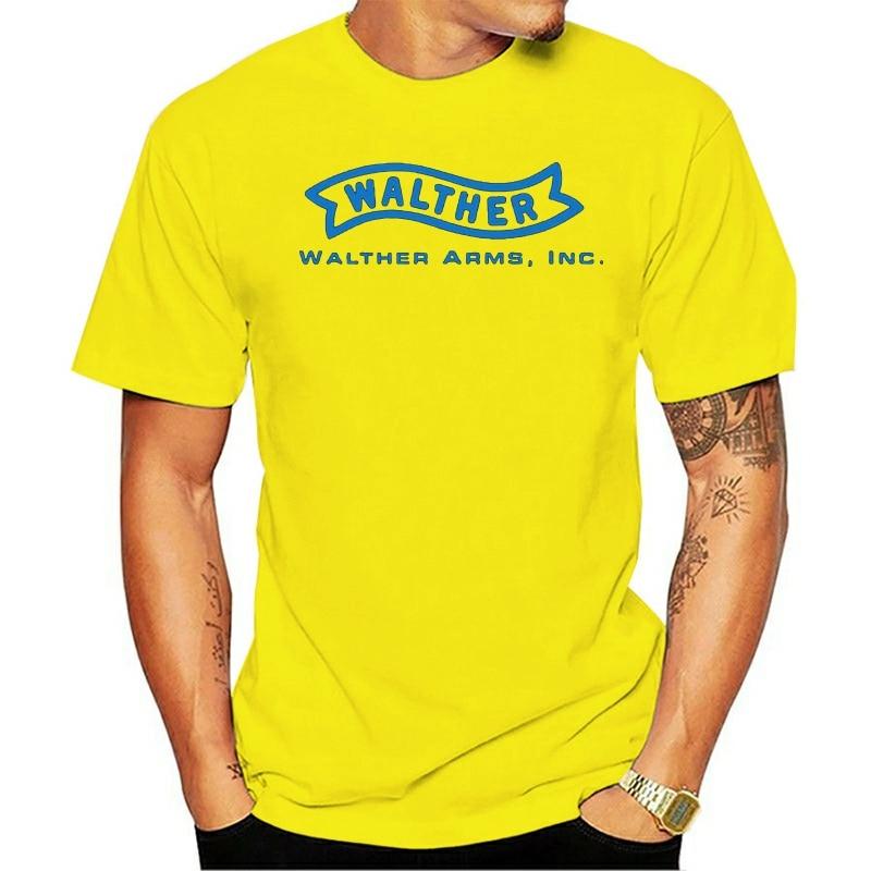 Nueva camiseta Walther Firearms negra y blanca Retro para hombre, envío gratis, genial camiseta con personalidad de regalo