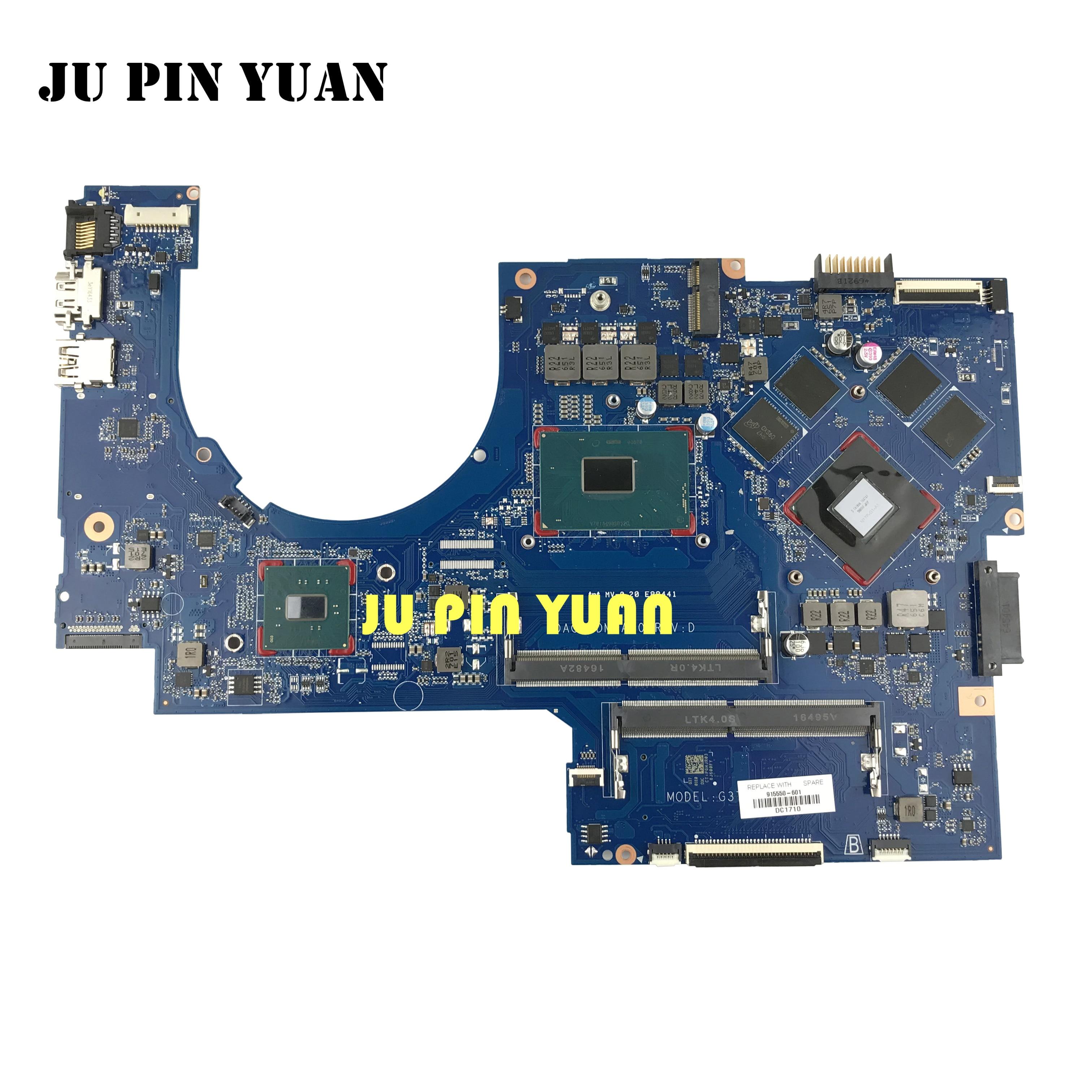 ل HP جناح 17-AB 17-W سلسلة اللوحة 915550-601 915550-501 915550-001 DAG37DMBAD0 G37D مع 1050Ti 4GB i7-7700H