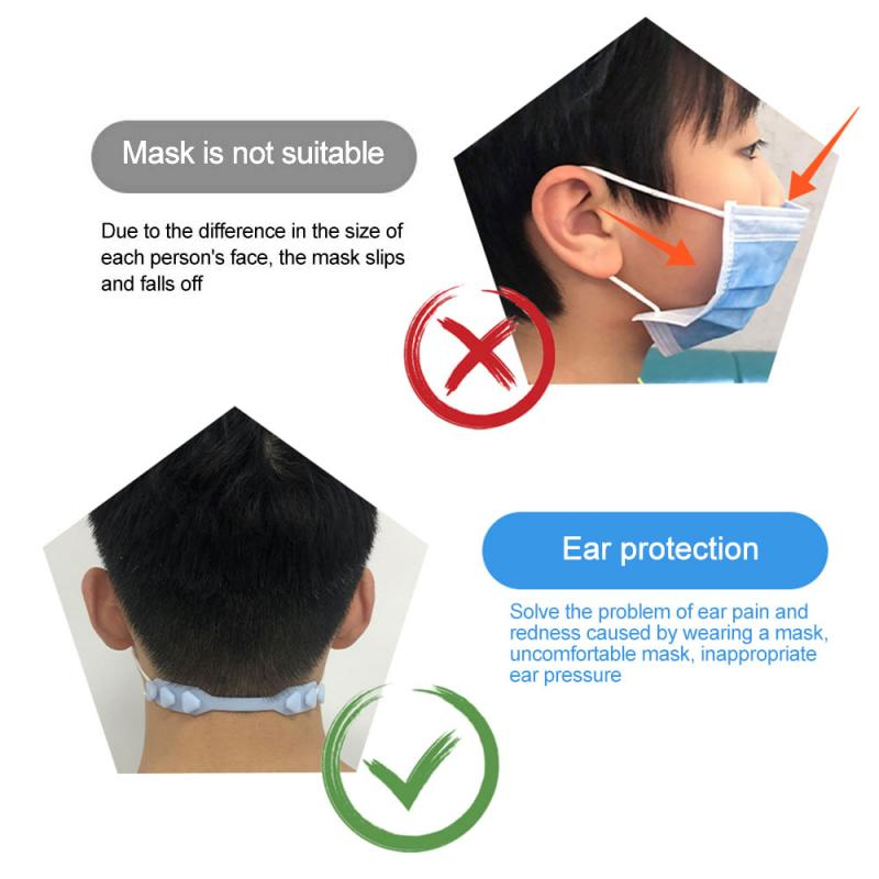 Silicone Mask Earmuffle Artifact Mask Rope Extension Buckle Ear Protection Strap Pain Prevention Hook Strap Holder