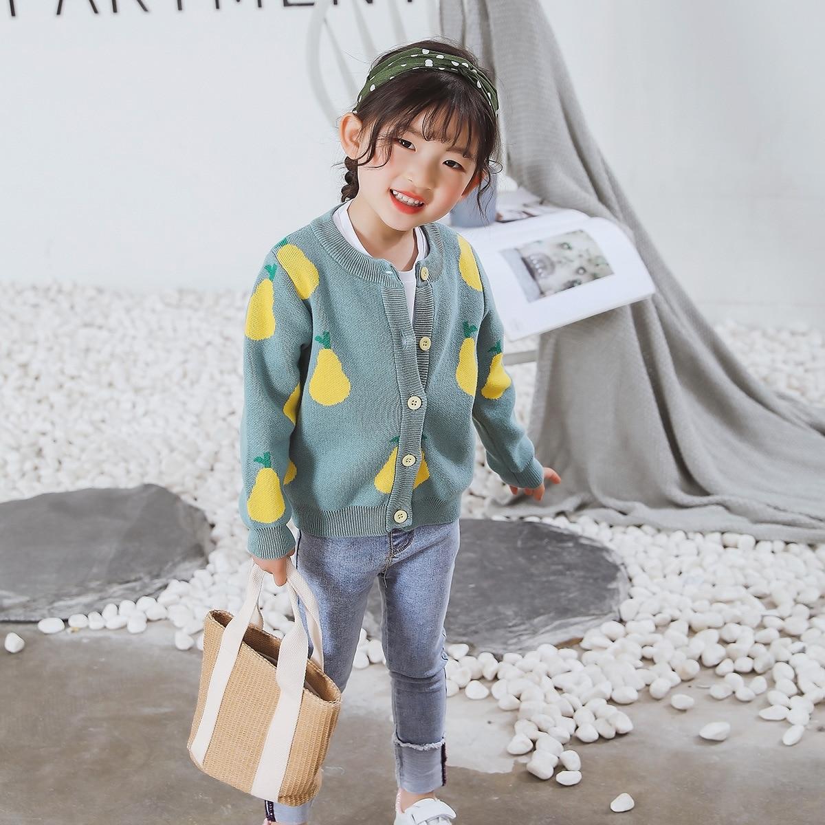 Ins/Детские кардиганы для девочек, От 1 до 7 лет кардиганы, одежда для детей, 2019