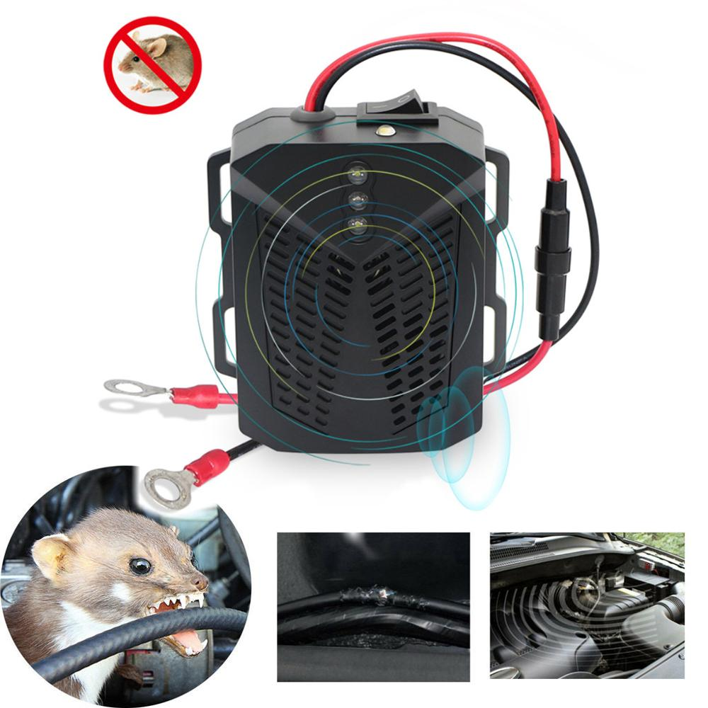 New 12V Anti-rat repeller Ultrasonic Mouse Repellent Mouse Repeller For Car Non-Toxic Keep Rodent Marten Away Car accessories