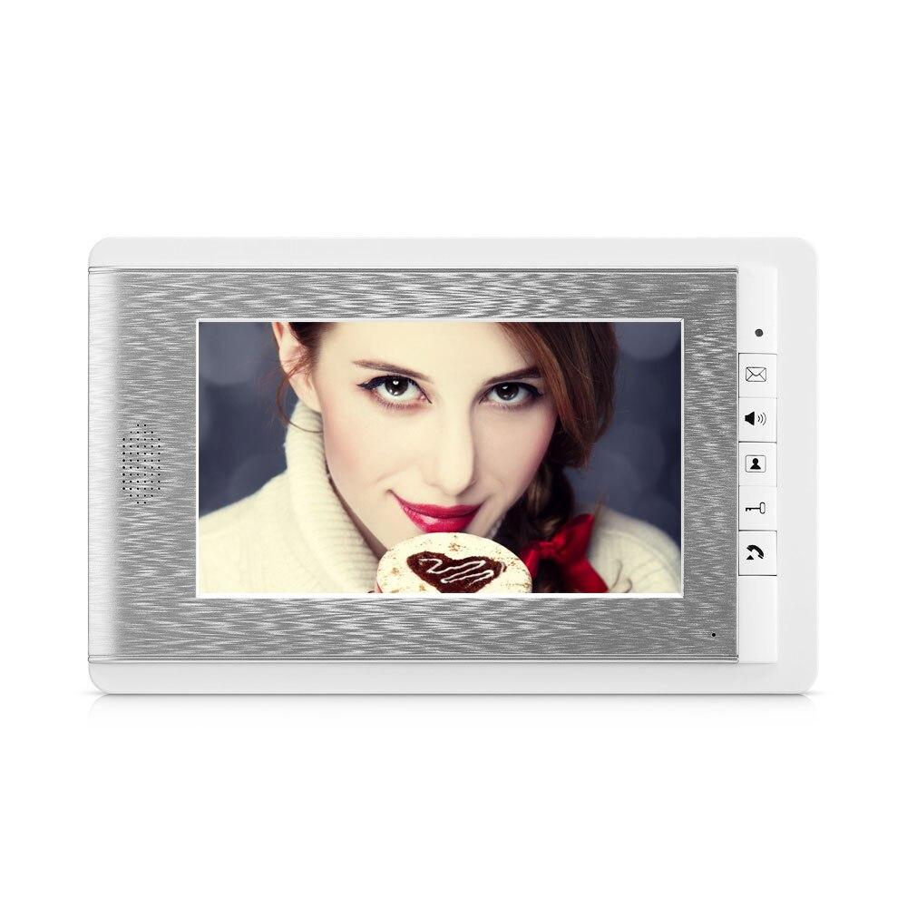 7 inch Video Door Phone Intercom System RFID Access Doorbell Camera  For 3-apartments Building Video intercom System enlarge