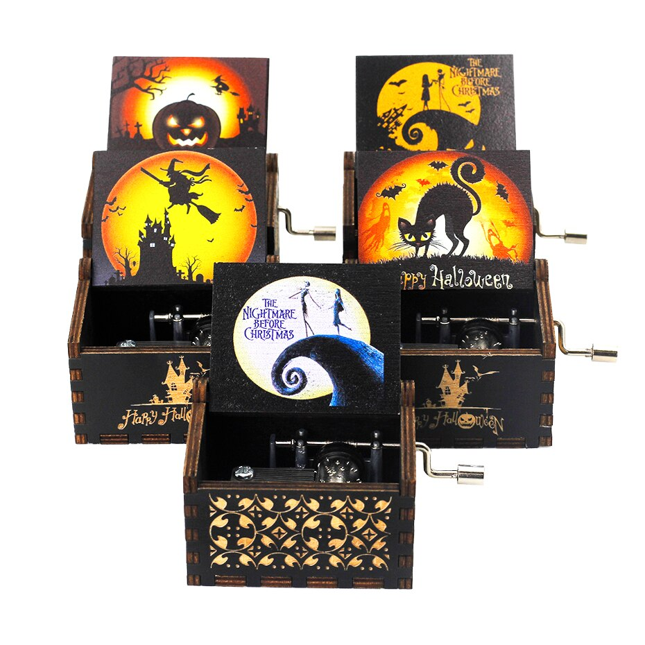 New style hand crank music box Halloween gift Christmas gift (friends and kids) gift Merry Christmas