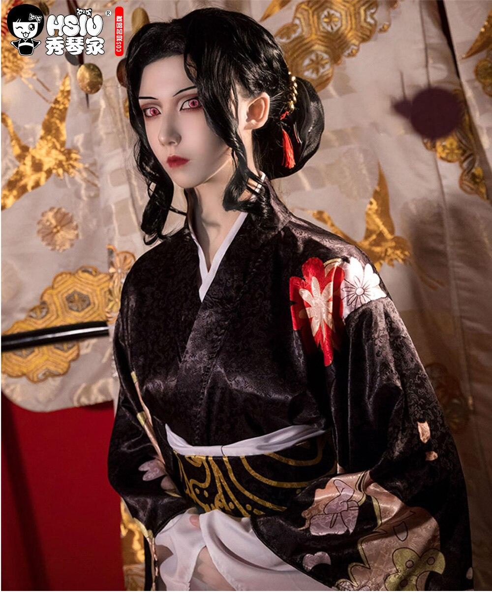 شعر مستعار تأثيري HSIU Kibutsuji Muzan للنساء, شعر مستعار قاتل الشياطين: Kimetsu no Yaib كيمونو على الطريقة اليابانية