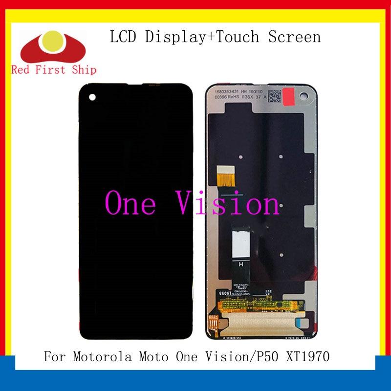 شاشة LCD أصلية لهاتف Motorola Moto One Vision ، شاشة تعمل باللمس ، حامل رقمي ، بديل لـ Moto P50 ، XT1970